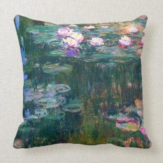 Wasser-Lilien-Claude Monet-schöne Kunst 1917 Kissen