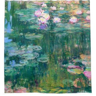 Wasser-Lilien-Claude Monet-schöne Kunst Duschvorhang