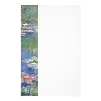 Wasser-Lilien Claude Monets // Personalisierte Büropapiere
