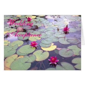 Wasser-Lilien, die Annahme-Karte Wedding sind Karte