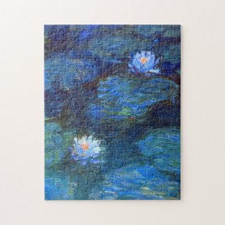Wasser-Lilien-Teich in blauer Claude Monet-schöner