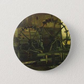 Wasser-Mühle bei Gennep, Vincent van Gogh Runder Button 5,1 Cm