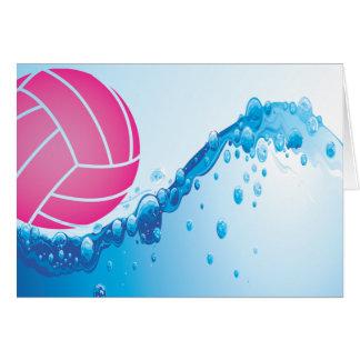 Wasser-Polo-Mitteilungskarten Karte