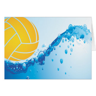 Wasser-Polo-Mitteilungskarten Mitteilungskarte