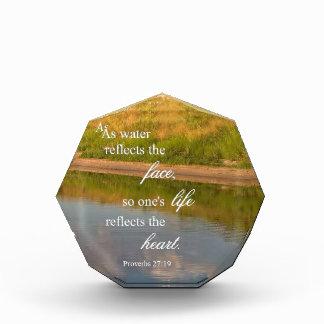 Wasser-Reflexion Acryl Auszeichnung