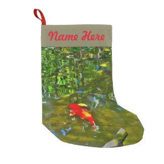Wasser-Reflexionen und der Koi Fisch-Strumpf Kleiner Weihnachtsstrumpf