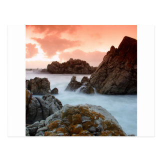 Wasser-surrealer Sonnenuntergang Südafrika Postkarte