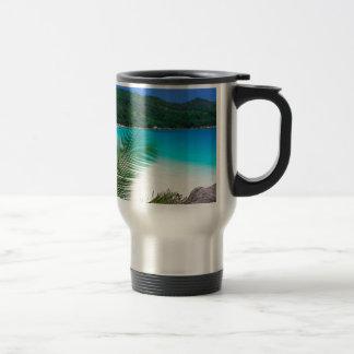Wasser-tropischer Rückzug Seychellen Reisebecher
