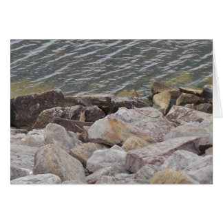 Wasser-und Felsen-Vatertags-Karte Grußkarte