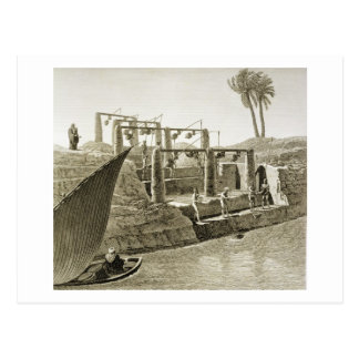 Wasser vom Nil sammelnd, überziehen Sie 6 von Postkarte