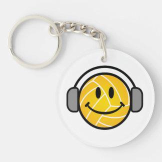 Wasserball-Ball mit Kopf ruft Schlüsselkette an Schlüsselanhänger