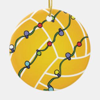 Wasserball-Ball mit Licht-Feiertag Oranament Rundes Keramik Ornament