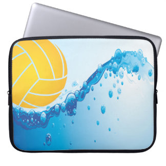 Wasserball-Entwurf Laptopschutzhülle