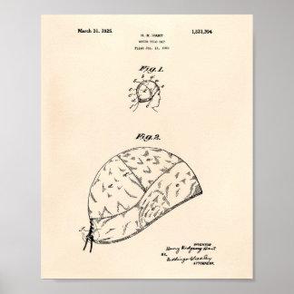 Wasserball Gap 1925 patentieren Kunst altes Peper Poster