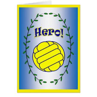 Wasserball-Held! Grußkarte