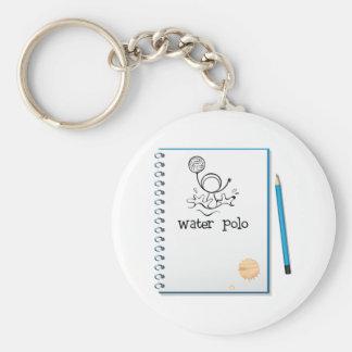Wasserball merkt Keychain Schlüsselanhänger
