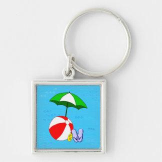 Wasserball-Pool-Regenschirm-Schablone Schlüsselanhänger