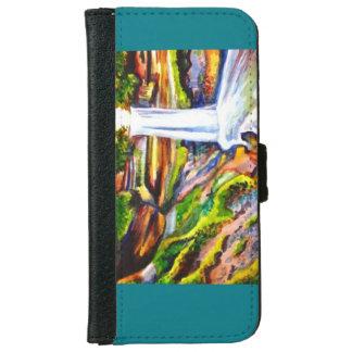 Wasserfall-Geldbörsentelefonkasten Geldbeutel Hülle Für Das iPhone 6/6s