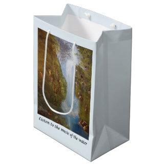 Wasserfall-Musik - Natur-Umwelt-Sprichwort-Phrase Mittlere Geschenktüte