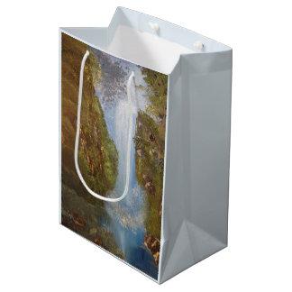 Wasserfall-Natur-Umwelt-Waldholz-Klippen Mittlere Geschenktüte