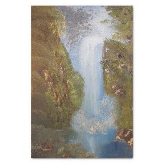 Wasserfall-Natur-Umwelt-Waldholz-Klippen Seidenpapier