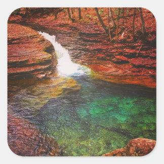Wasserfall Quadratischer Aufkleber