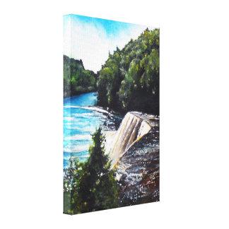 Wasserfall - Tahquamenon Fälle, Leinwand-Druck MI Leinwanddruck