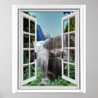 Wasserfall Trompe - L ' oeil Poster