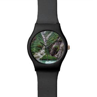 Wasserfall-Uhr Uhr