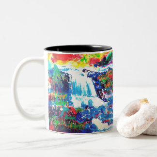 Wasserfälle Zweifarbige Tasse