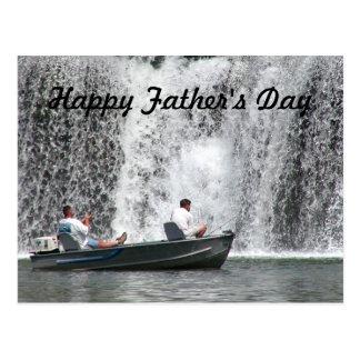 Wasserfallfischen Vatertagspostkarte Postkarte