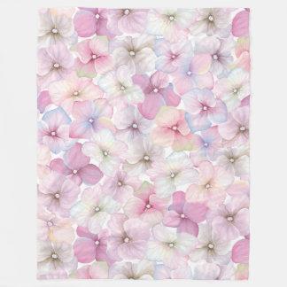 WasserfarbBlumenmuster - Blumenmuster Fleecedecke