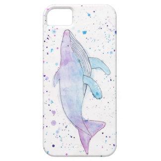 Wasserfarbe-Buckel-Wal IPhone 5/5s Fall iPhone 5 Schutzhüllen