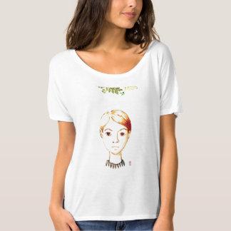 Wasserfarbe: coole Dame T - Shirt des Aufenthalts