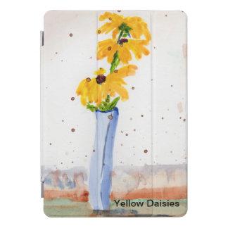 Wasserfarbe der gelben Gänseblümchen in einem iPad Pro Cover
