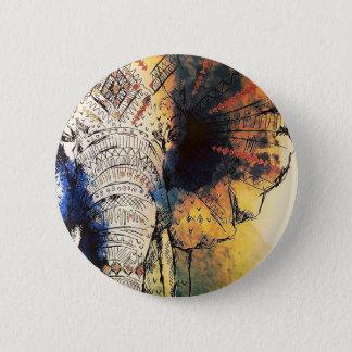 Wasserfarbe-Elefant Runder Button 5,1 Cm