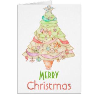 Wasserfarbe-Grußkarte der frohen Weihnachten Karte