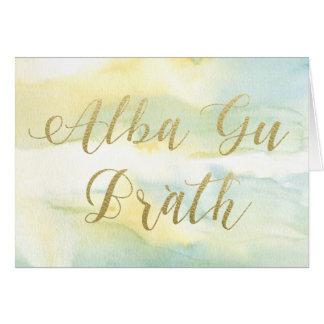 Wasserfarbe GUs Brath u. Goldgruß-Karte alba Karte