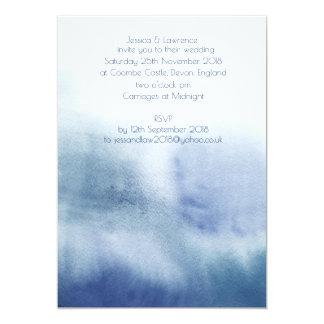 Wasserfarbe-Hochzeits-Einladung 12,7 X 17,8 Cm Einladungskarte