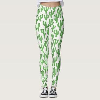 Wasserfarbe-Kaktus-Muster - Grün Leggings