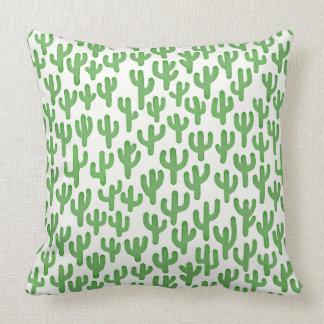 Wasserfarbe-Kaktus-Muster - Grün Zierkissen