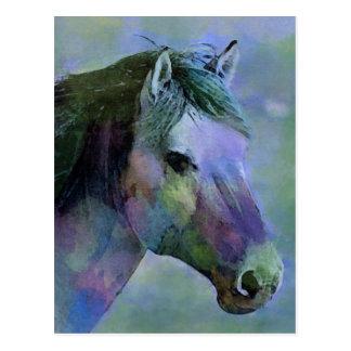 Wasserfarbe-Pferd Postkarte