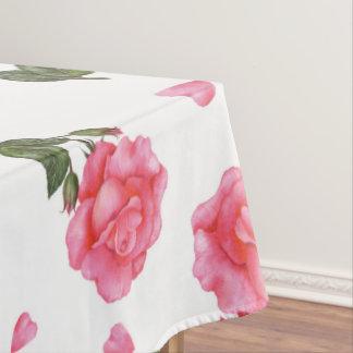 Wasserfarbe-rosa Rosen-Shabby Chic-Entwurf Tischdecke