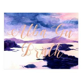 Wasserfarbe-Rosen-Goldpostkarte GUs Brath alba Postkarte