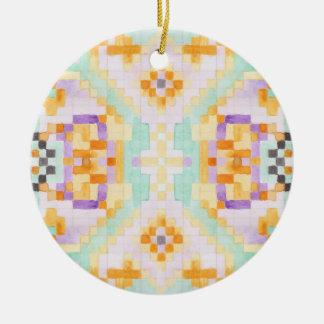 Wasserfarbepastell Keramik Ornament