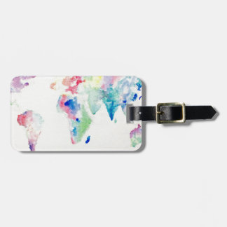WasserfarbWeltkarte Gepäckanhänger