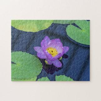 Wasserlilie-Fotopuzzlespiel