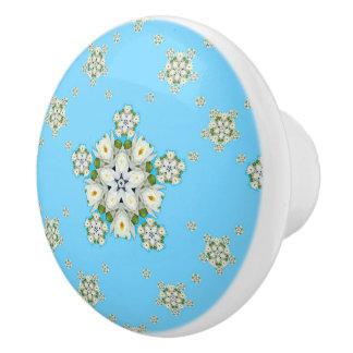 Wasserlilie-Schneeflocke-Muster Keramikknauf