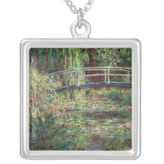 Wasserlilie-Teich Claudes Monet |: Rosa Harmony, Versilberte Kette