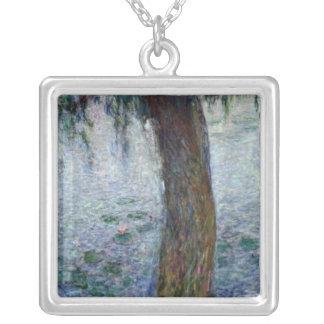 Wasserlilie-weinende Weiden Claudes Monet | nach Versilberte Kette